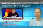 """Analyse Merkel-Vorwort auf Weltwirtschaftsforum. """"Kleine private Diskussion"""" der Davos-Teilnehmer"""