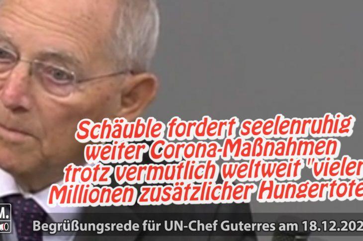 Schäuble, Millionen Hungertote