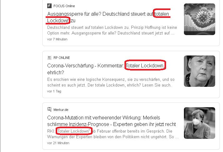 """totaler Lockdown"". Merkel-Medien rhetorisch immer auffälliger"