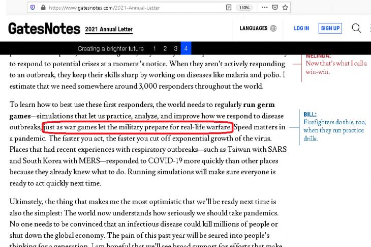 """Bill Gates denkt bei Corona™️ an """"Krieg"""". Vorbereitung wie bei Militär"""
