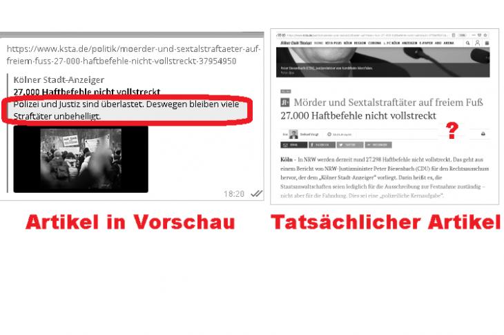 """""""Polizei und Justiz überlastet""""? Best gehütetes Geheimnis. KSta ändert Inhalt"""