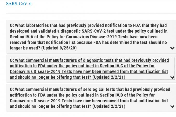 Warum entzog US-Behörde FDA gestern über 200 Corona-Test-Kits die Zulassung?