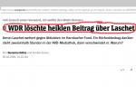 WDR löscht offenbar Beitrag, will es aber nicht so recht zugeben. Extremistisch durch Vorgeblichkeit von Neutralität
