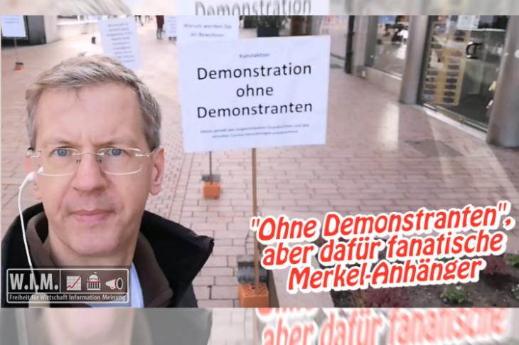 """Zweite """"Demo ohne Demonstranten"""". Diesmal mit fanatischen Merkel-Anhängern"""
