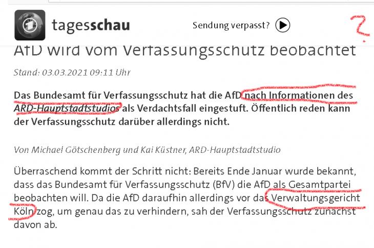 ARD-ZDF lügt oder offenbart Kooperation mit Haldenwang-Behörde. ÖRR mit Kampfansage gegen Demokratie