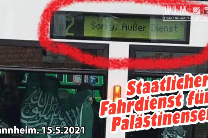 Staatlicher ÖPNV erleichtert Palästinenser-Versammlung mit Sonderbahnen
