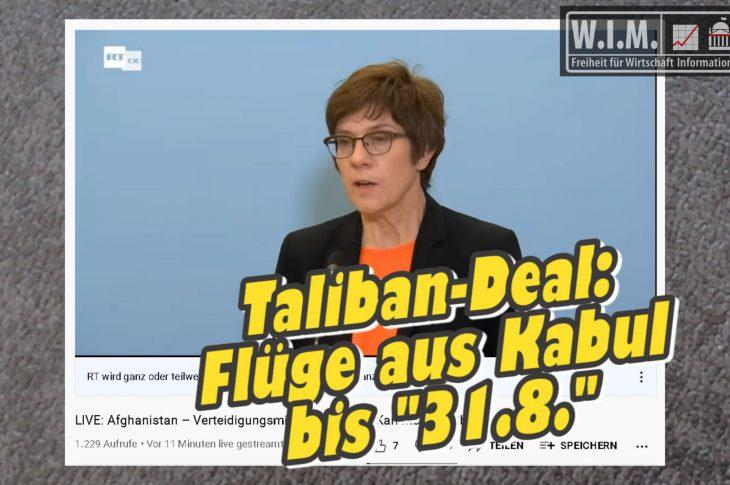 "Taliban-Deals. Flüge aus Kabul bis ""31.8."""